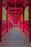 Ζωηρόχρωμη γέφυρα ποδιών Στοκ Φωτογραφία