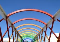 Ζωηρόχρωμη γέφυρα Aviles Στοκ Φωτογραφία