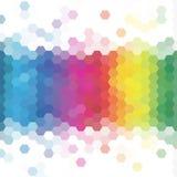 Ζωηρόχρωμη γεωμετρική κηρήθρα polygonal αφηρημένο διανυσματικό υπόβαθρο eps 10 ύφους ελεύθερη απεικόνιση δικαιώματος