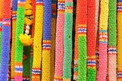 ζωηρόχρωμη γιρλάντα πλαστικός Ταϊλανδός Στοκ Φωτογραφίες