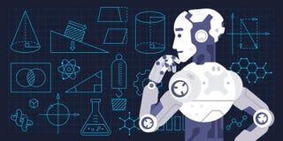 Ζωηρόχρωμη διανυσματική απεικόνιση της διαδικασίας εκμάθησης μηχανώ απεικόνιση αποθεμάτων