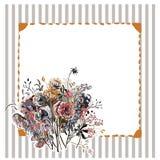 Ζωηρόχρωμη διανυσματική ταπετσαρία διακοσμήσεων ζωγραφικής τέχνης λουλουδιών σχεδίου απεικόνιση αποθεμάτων