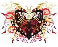 Ζωηρόχρωμη εθνική καρδιά στο ύφος grunge Στοκ εικόνες με δικαίωμα ελεύθερης χρήσης