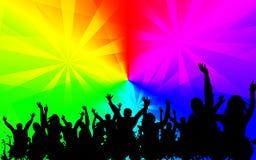 Ζωηρόχρωμη εικόνα υποβάθρου κομμάτων Disco στοκ εικόνα με δικαίωμα ελεύθερης χρήσης