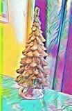 Ζωηρόχρωμη εικόνα υποβάθρου χριστουγεννιάτικων δέντρων στοκ εικόνα