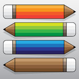 Ζωηρόχρωμη ετικέτα μολυβιών, διανυσματική εργασία Στοκ Φωτογραφία