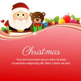 Ζωηρόχρωμη ευτυχής διακόσμηση Άγιος Βασίλης κορδελλών Χριστουγέννων ελεύθερη απεικόνιση δικαιώματος