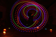 Ζωηρόχρωμη ελαφριά φωτεινή σύσταση στο Μαύρο στοκ εικόνες με δικαίωμα ελεύθερης χρήσης