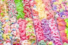 ζωηρόχρωμη ζελατίνα καραμελών Στοκ Εικόνες