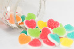 Ζωηρόχρωμη ζελατίνα σημαδιών καρδιών Στοκ φωτογραφία με δικαίωμα ελεύθερης χρήσης