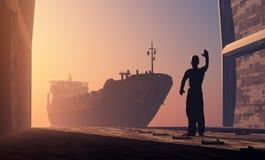ζωηρόχρωμη ημέρα εμπορευματοκιβωτίων πολύς λιμένας ηλιόλουστος Στοκ εικόνα με δικαίωμα ελεύθερης χρήσης