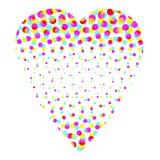 ζωηρόχρωμη ημίτοή καρδιά Στοκ εικόνες με δικαίωμα ελεύθερης χρήσης