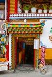 Ζωηρόχρωμη θιβετιανή πόρτα Στοκ Φωτογραφία
