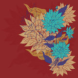 Ζωηρόχρωμη διακόσμηση λουλουδιών Στοκ φωτογραφία με δικαίωμα ελεύθερης χρήσης