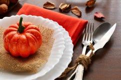 Ζωηρόχρωμη διακόσμηση φθινοπώρου για το εορταστικό γεύμα Στοκ Εικόνα