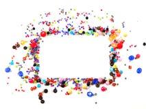 Ζωηρόχρωμη διακόσμηση χαντρών τετραγώνων Στοκ εικόνα με δικαίωμα ελεύθερης χρήσης