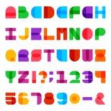 Ζωηρόχρωμη διανυσματική πηγή αλφάβητου Στοκ Εικόνες