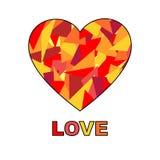 Ζωηρόχρωμη κάρτα αγάπης καρδιών Στοκ Εικόνες