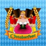 Ζωηρόχρωμη κάρτα για το φεστιβάλ Οκτωβρίου απεικόνιση αποθεμάτων