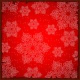 Ζωηρόχρωμη κάρτα Χριστουγέννων δειγμάτων ή τυλίγοντας έγγραφο Η σύσταση snowflakes Φωτεινό χειμερινό υπόβαθρο για τους χαιρετισμο διανυσματική απεικόνιση