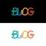 Ζωηρόχρωμη κάλυψη Blog για την επιχείρηση Στοκ Εικόνες