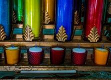 Ζωηρόχρωμη καθολική εκκλησία κεριών Στοκ Εικόνα