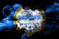 Ζωηρόχρωμη καπνίζοντας σημαία 2018 της Βοστώνης, Μασαχουσέτη ελεύθερη απεικόνιση δικαιώματος