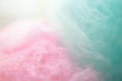 Ζωηρόχρωμη καραμέλα βαμβακιού στο μαλακό χρώμα Στοκ εικόνες με δικαίωμα ελεύθερης χρήσης