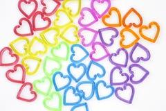Ζωηρόχρωμη καρδιά στο υπόβαθρο σύστασης της Λευκής Βίβλου, υπόβαθρο έννοιας βαλεντίνων στοκ φωτογραφία με δικαίωμα ελεύθερης χρήσης