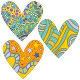 ζωηρόχρωμη καρδιά συλλο&gam Στοκ Εικόνα