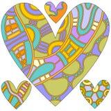 ζωηρόχρωμη καρδιά συλλο&gam Στοκ εικόνες με δικαίωμα ελεύθερης χρήσης