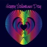 Ζωηρόχρωμη καρδιά Στοκ εικόνα με δικαίωμα ελεύθερης χρήσης