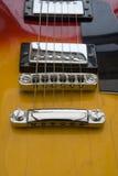 ζωηρόχρωμη κιθάρα cose επάνω Στοκ Φωτογραφίες