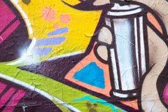 Ζωηρόχρωμη κινηματογράφηση σε πρώτο πλάνο τοίχων γκράφιτι - υπόβαθρο γκράφιτι Στοκ εικόνες με δικαίωμα ελεύθερης χρήσης
