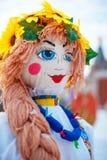 Ζωηρόχρωμη κούκλα Maslennitsa Στοκ εικόνα με δικαίωμα ελεύθερης χρήσης
