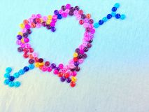Ζωηρόχρωμη μορφή καρδιών για τη διακόσμηση ημέρας Valentine's στοκ φωτογραφία