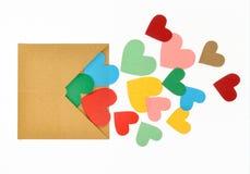 Ζωηρόχρωμη μορφή καρδιών εγγράφου Στοκ φωτογραφία με δικαίωμα ελεύθερης χρήσης