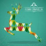 Ζωηρόχρωμη μορφή ταράνδων Χαρούμενα Χριστούγεννας. απεικόνιση αποθεμάτων