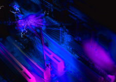 Ζωηρόχρωμη μπλε ανασκόπηση Στοκ φωτογραφία με δικαίωμα ελεύθερης χρήσης