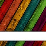 Ζωηρόχρωμη ξύλινη ανασκόπηση Στοκ Εικόνες