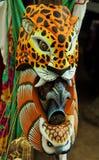 Ζωηρόχρωμη ξύλινη γηγενής μάσκα Στοκ φωτογραφίες με δικαίωμα ελεύθερης χρήσης