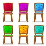 Ζωηρόχρωμη ξύλινη καρέκλα κινούμενων σχεδίων Στοκ Εικόνα