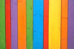 Ζωηρόχρωμη ξύλινη υπόβαθρο ή ταπετσαρία Στοκ Εικόνα