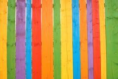 Ζωηρόχρωμη ξύλινη υπόβαθρο ή ταπετσαρία Στοκ Εικόνες