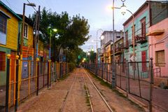 Ζωηρόχρωμη οδός στην περιοχή Boca του Μπουένος Άιρες στοκ εικόνες