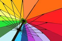 ζωηρόχρωμη ομπρέλα Στοκ εικόνες με δικαίωμα ελεύθερης χρήσης