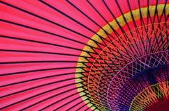 Ζωηρόχρωμη παραδοσιακή ιαπωνική ομπρέλα Στοκ Εικόνες