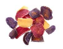 ζωηρόχρωμη πατάτα τσιπ Στοκ Εικόνες