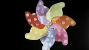 Ζωηρόχρωμη περιστροφή pinwheel απόθεμα βίντεο