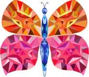 Ζωηρόχρωμη πεταλούδα μωσαϊκών απεικόνιση αποθεμάτων